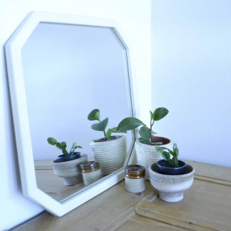 Vintage hoekige spiegel