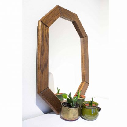 Vintage spiegel hout