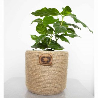 Bloempot jute upcycled cilinder
