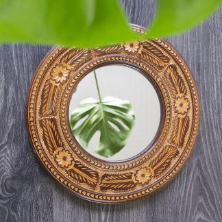 Vintage spiegel rond