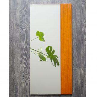 Vintage spiegel rechthoekig hout