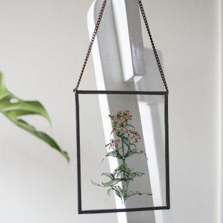 Vintage bloem glas in lood