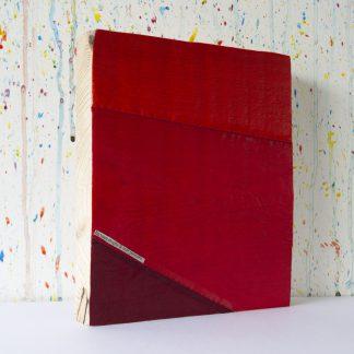 Art onder de riem upcycled groot rood