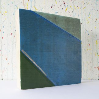 Art onder de riem upcycled blauwgroen