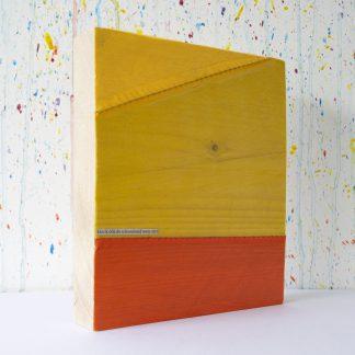 Art onder de riem upcycled geel