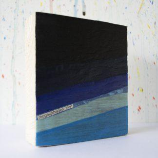 Art onder de riem upcycled blauw