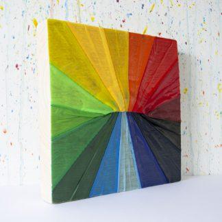 Art onder de riem upcycled regenboog
