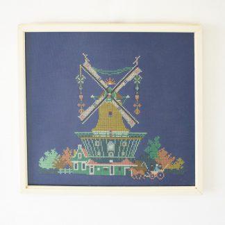 Vintage borduurwerk molen