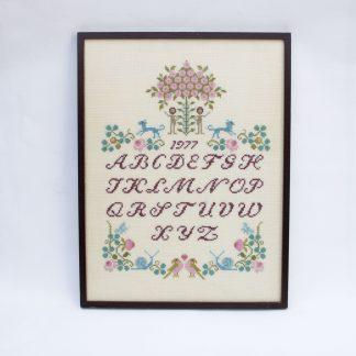 Vintage borduurwerk alfabet