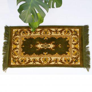 Vintage tapijt/vloerkleed klein