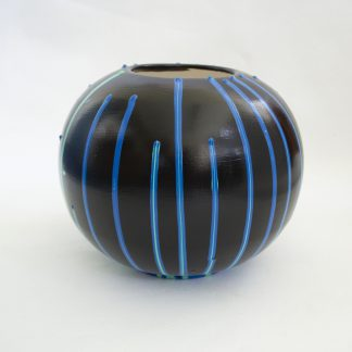 vaas colordrip geupcycled blauw