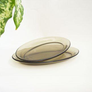 Vintage rookglas schalen Arcoroc France