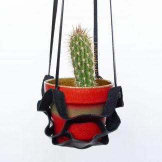 Leren plantenhanger upcycled
