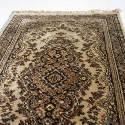 Vintage tapijt/vloerkleed bruin