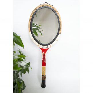 Racket spiegel upcyled rood