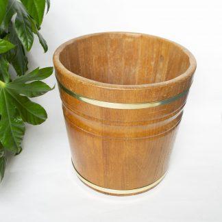 Vintage houten bloempot