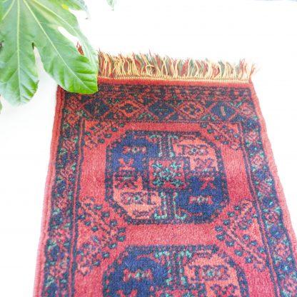 Vintage loper/tapijt rood