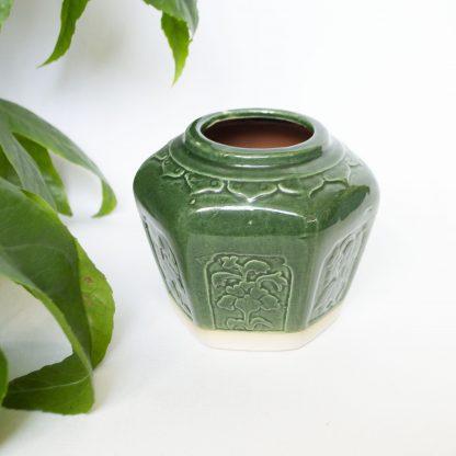 Vintage gemberpotje groen