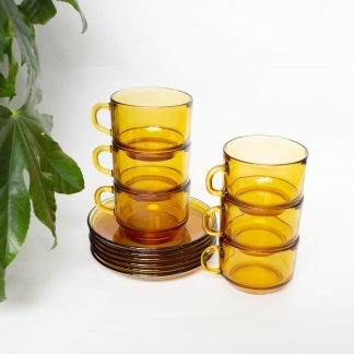 Vintage kop en schotel set 6