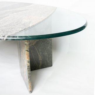 Vintage design tafel graniet
