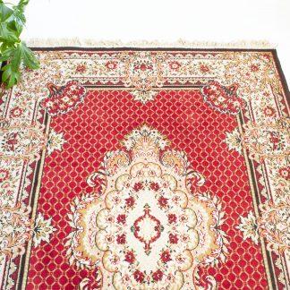 Vintage tapijt/vloerkleed groot rood