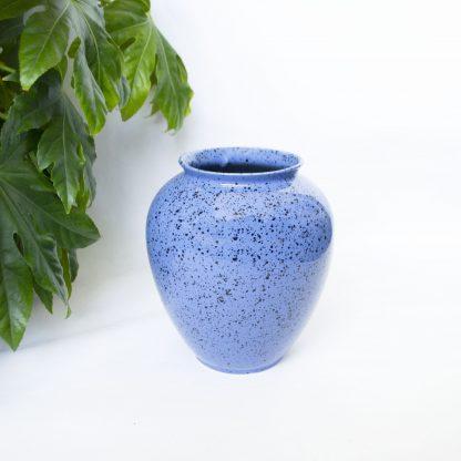 Vintage vaas blauw spikkels