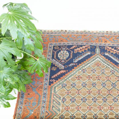 Vintage Perzisch tapijt oranje