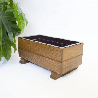 Vintage houten bloembakje