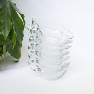 Vintage appel schaaltjes glas