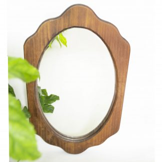 Vintage spiegel hout ovaal